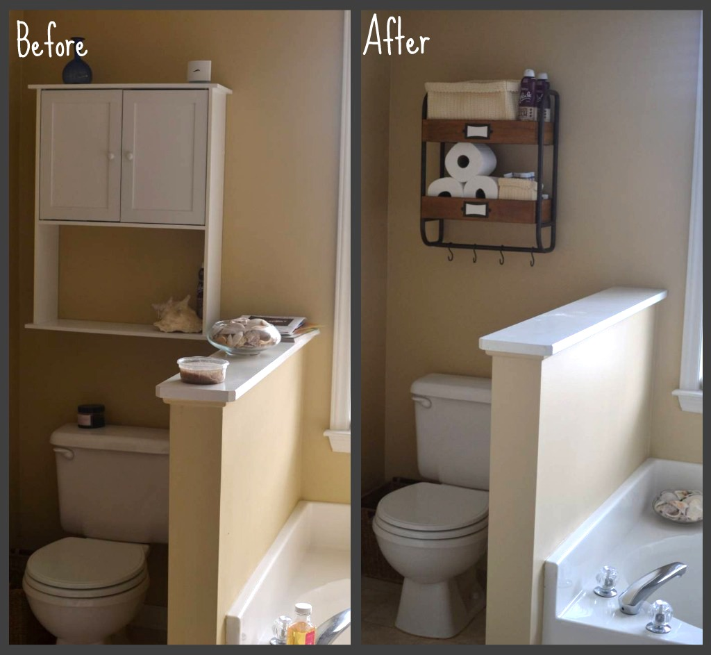 Diy master bathroom makeover under the oaks for Diy master bathroom ideas