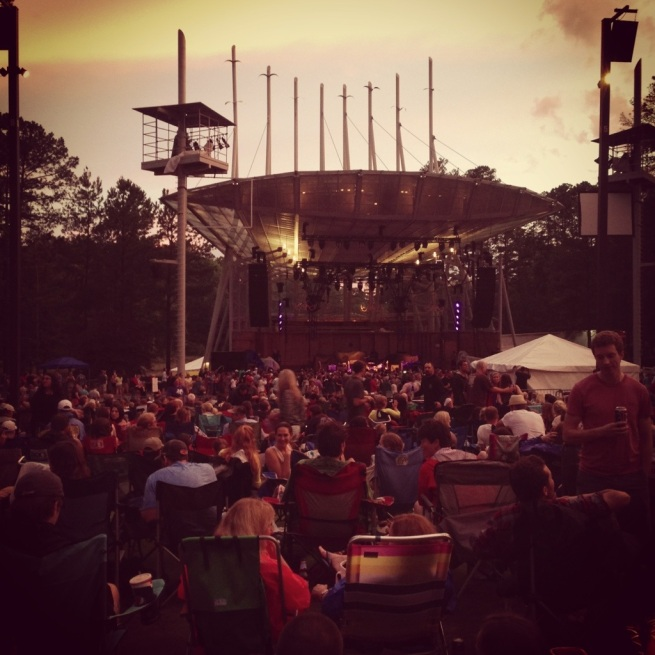 Koka Booth Amphitheater, Cary, NC - Under the Oaks blog: life lately