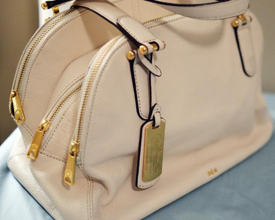 Lauren Ralph Lauren Chandler Triple Compartment Satchel on Under the Oaks blog : What's In My Bag