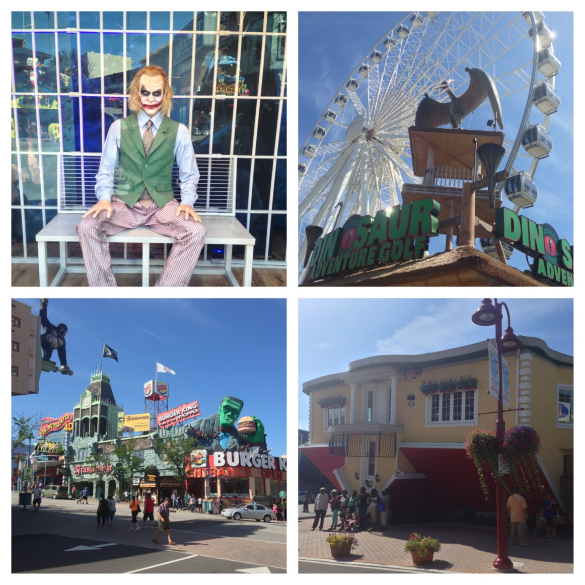 Under the Oaks blog: Canada : Niagara Falls + Niagara on the Lake #batman #joker #ferriswheel #dinosaur #Frankenstein #ripleys