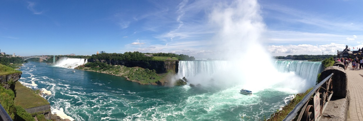 Under the Oaks blog: Canada : Niagara Falls + Niagara on the Lake #rainbowfalls #panorama #maidofthemist