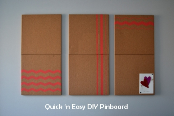 Under the Oaks blog: Quick 'n Easy DIY Pinboard