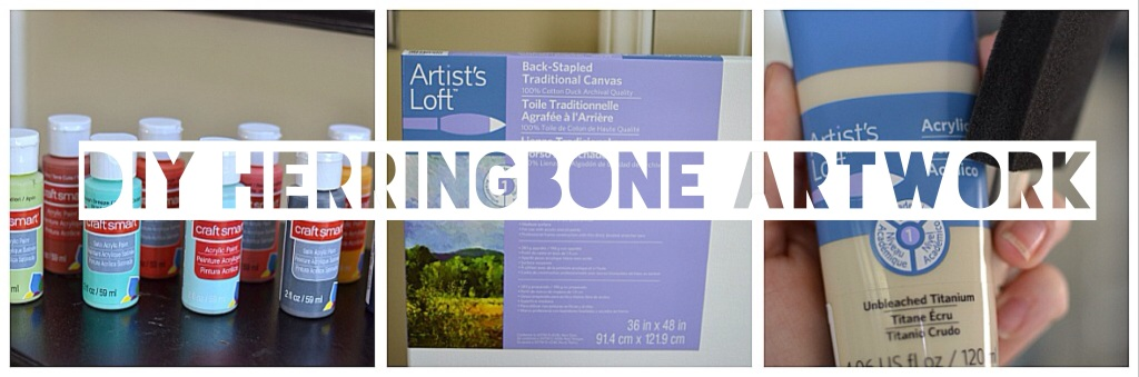 Under the Oaks : DIY Herringbone Canvas Artwork
