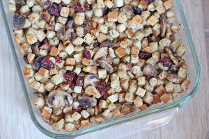 Cranberry Mushroom Stuffing from freshmushrooms on Under the Oaks : A Thanksgiving Menu for Two
