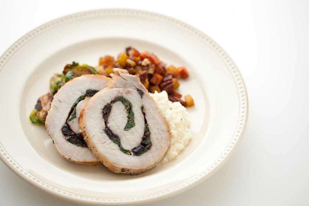 Cranberry-Spinach Stuffed Pork Loin from DJ Foodie on Under the Oaks blog: Must-Have Paleo Thanksgiving Dishes