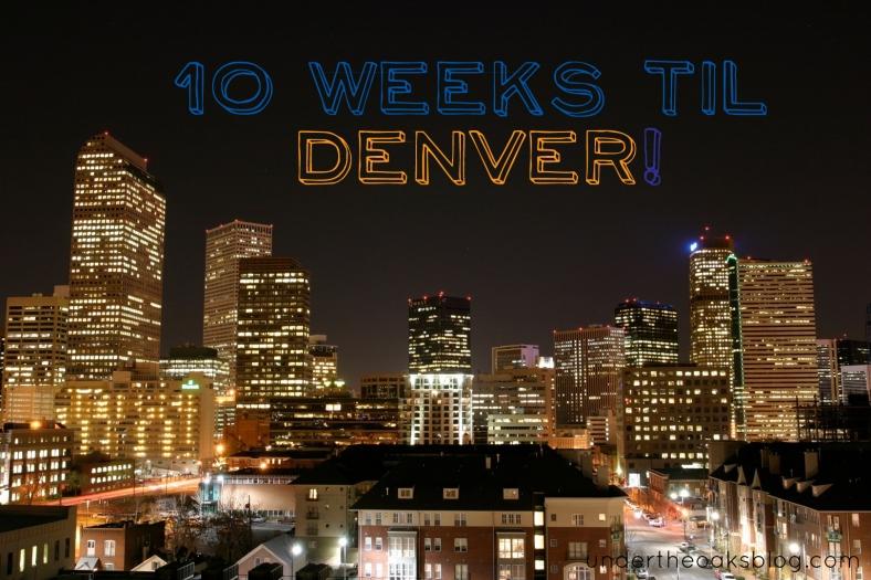 Under the Oaks blog: Planning for Denver