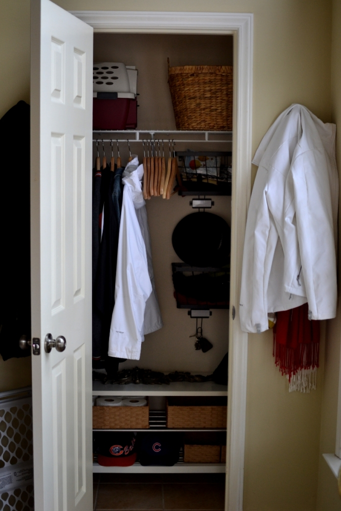 Under the Oaks : DIY Coat Closet Makeover
