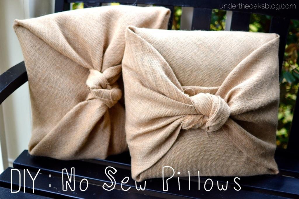 Under the Oaks DIY : No Sew Pillows