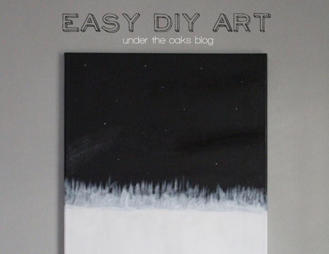 Under the Oaks blog: Easy DIY Art