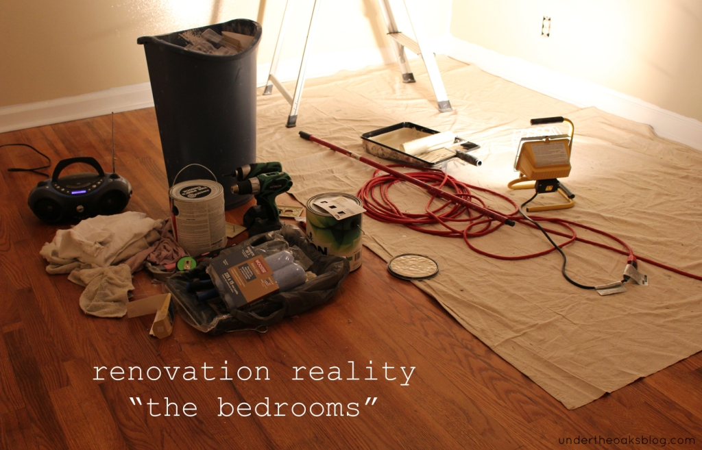 Under the Oaks blog: Renovation Reality: The Bedrooms #home #remodel