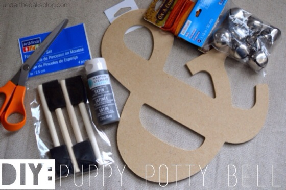 Under the Oaks : DIY Puppy Potty Bell