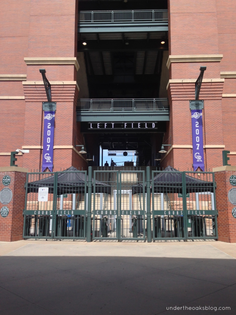 Under the Oaks blog: Hello #Denver: Mile-High Recap Pt. 1 #CoorsField #Colorado