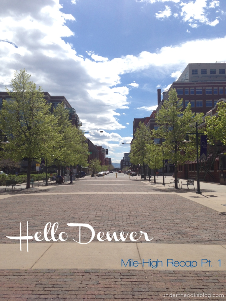 Under the Oaks blog: Hello #Denver: Mile-High Recap Pt. 1 #Colorado
