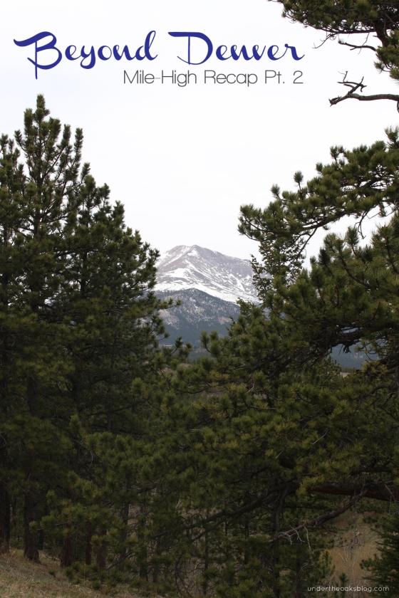 Under the Oaks blog: Beyond #Denver: Mile-High Recap Pt. 2 #RockyMountains #mountains #colorado #travel
