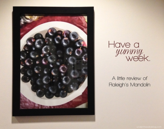 Under the Oaks blog: Have a yummy week. #Mandolin #Raleigh #restaurant