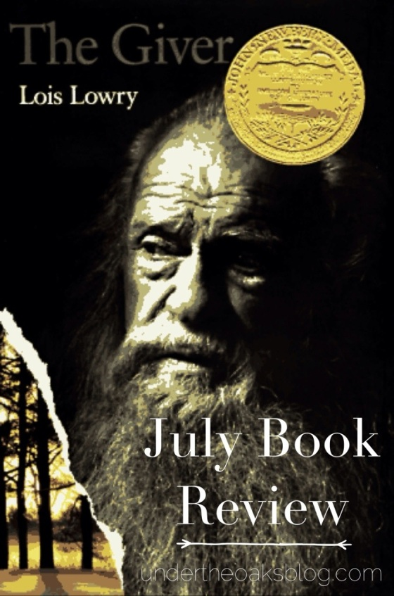 Under the Oaks: The Giver July Book Reivew