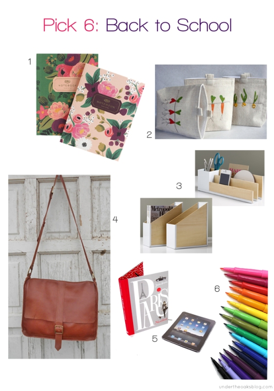 Under the Oaks blog: Pick 6: Grown-Up School Supplies #backtoschool #deskorganization #schoolsupplies