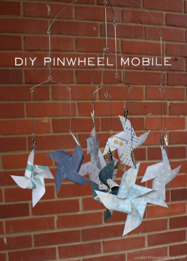 Under the Oaks blog: DIY Pinwheel Mobile for the nursery